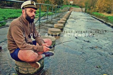Séverin Foucourt, Mickaël Feugray, la troupe amochée, pêcheur, pêche, sente des rivières, lac, écologie.