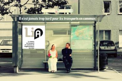 Mickael Feugray, Aline Lemercier, Séverin Foucourt, la troupe amochée, pub LIA, LIA le havre